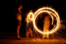 Spinning sparklers circles