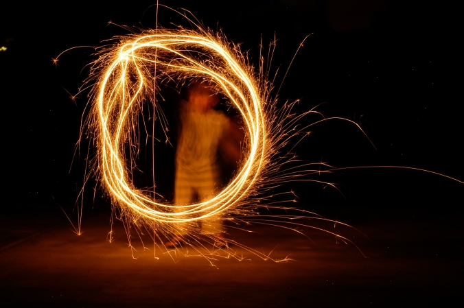 Sparklers, going solo