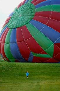 Balloon swallows kid
