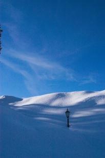 Snowbank Lamp post
